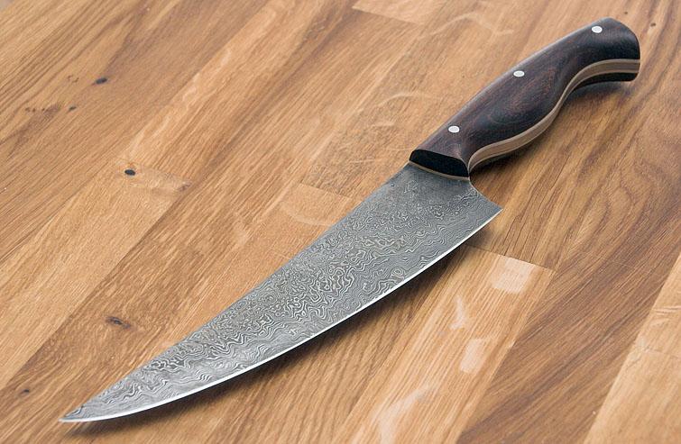 handgeschmiedete Messer - aus Damast-Stahl